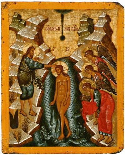 Икона Богоявления и Крещения Господня. Новгород