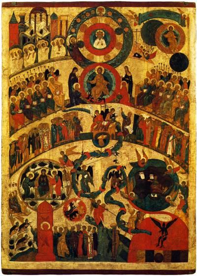 Икона Страшный Суд. Новгород XV век